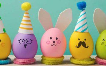 12 roliga sätt att dekorera påskägg tillsammans med barnen